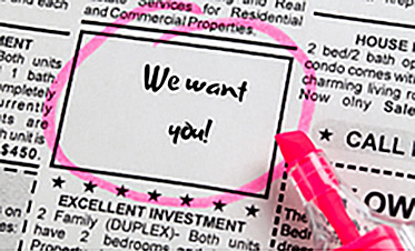 We want you. Classified ads