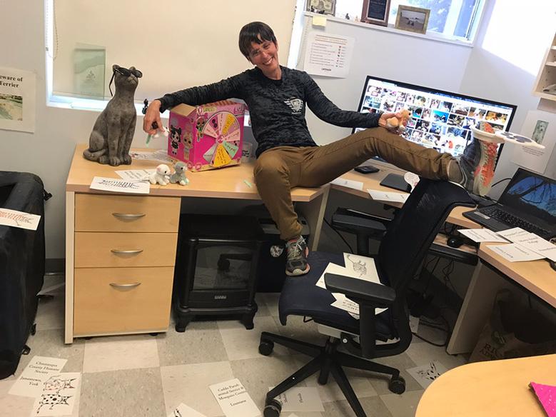 Dr. Kate Hurley at her desk