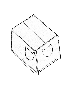 sketch of hidey box
