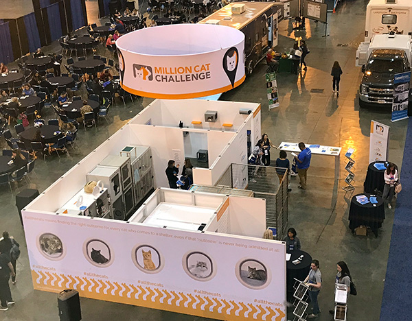 Million Cat Challenge housing booth at Expo 2019