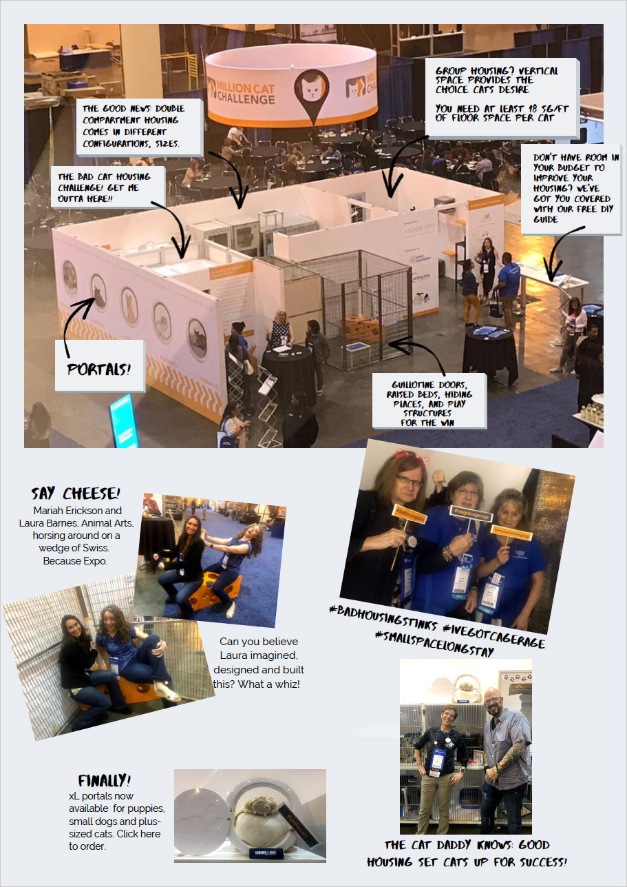 Million Cat Challenge cat housing booth at HSUS Animal Care Expo 2019